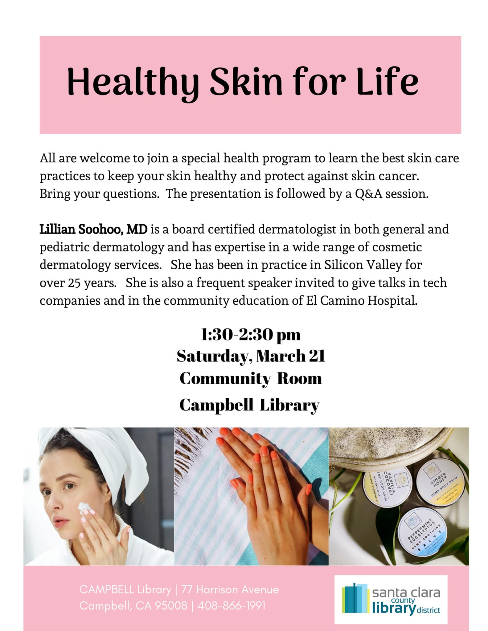3-21-2020_Campbell Library_Healthy Skin for Life