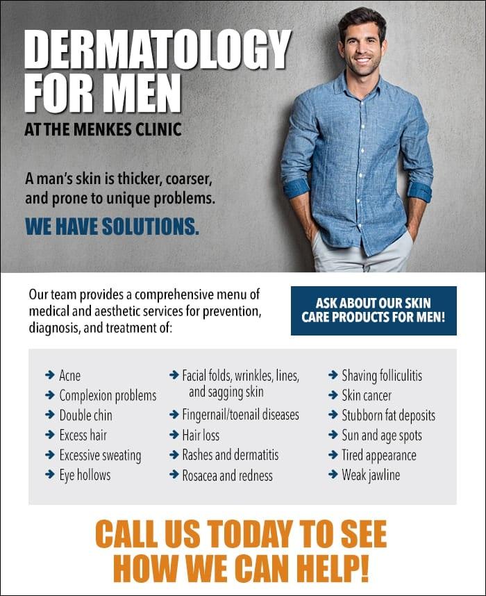 dermatology for men banner